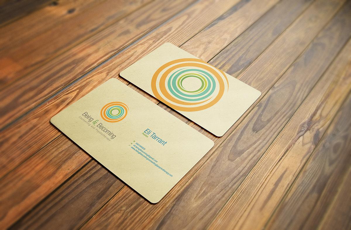Modern upmarket business card design for eli tarrant by dub business card design by dub coonco for business card design for counselling and psychotherapy practice magicingreecefo Gallery
