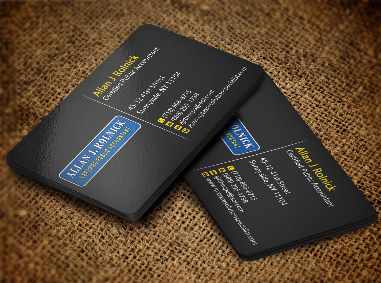 Business Business Card Design for Allan J Rolnick, CPA by Creation ...