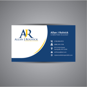 business card design job business card brief for allan j rolnick