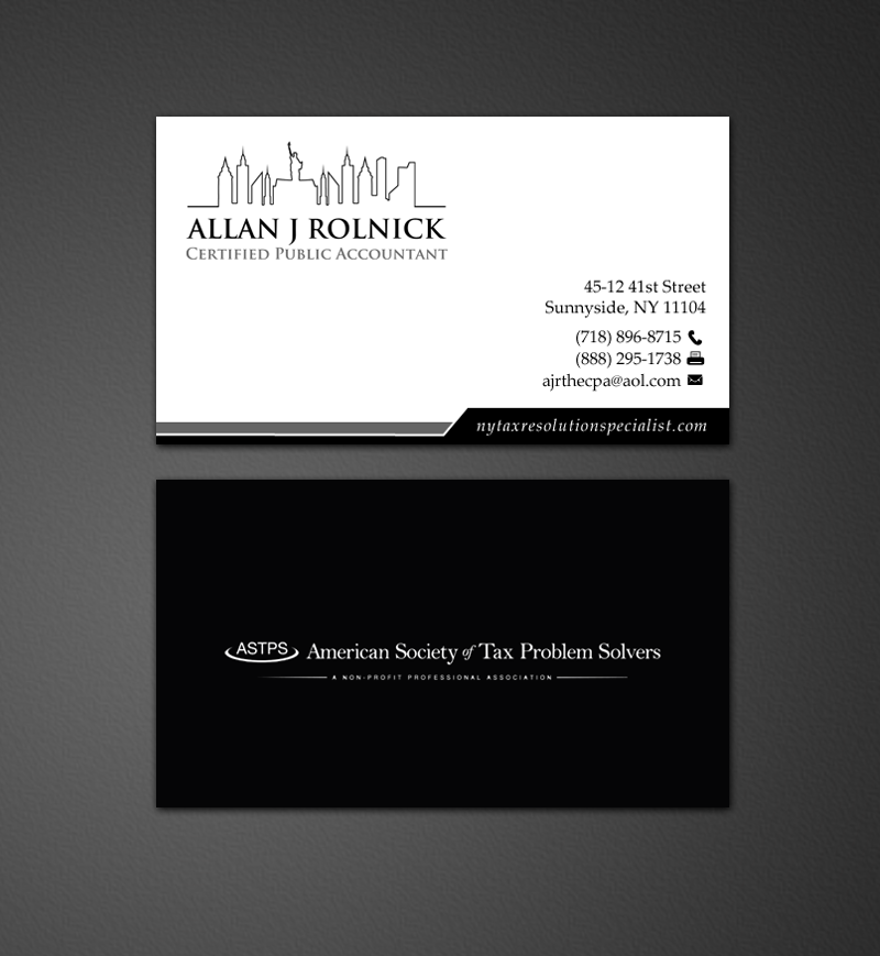 Business Business Card Design for Allan J Rolnick, CPA by ...