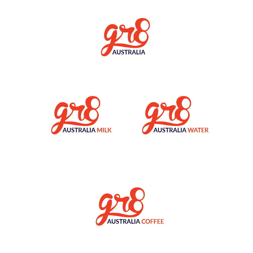 Bold serious logo design for gr8 australia by burst for Australian design firms
