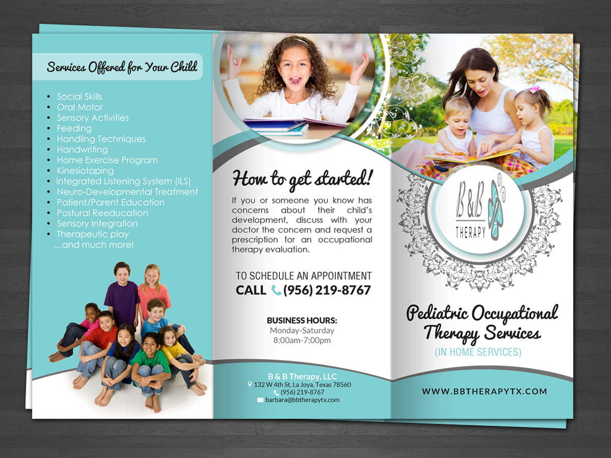 Serious professional health care brochure design for a for Free pediatric brochure templates