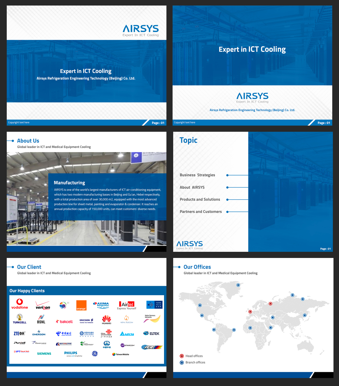 Professional, Upmarket, Communication PowerPoint Design for Airsys