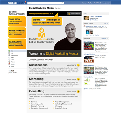 Facebook Page Design - Custom Facebook Page Design Service