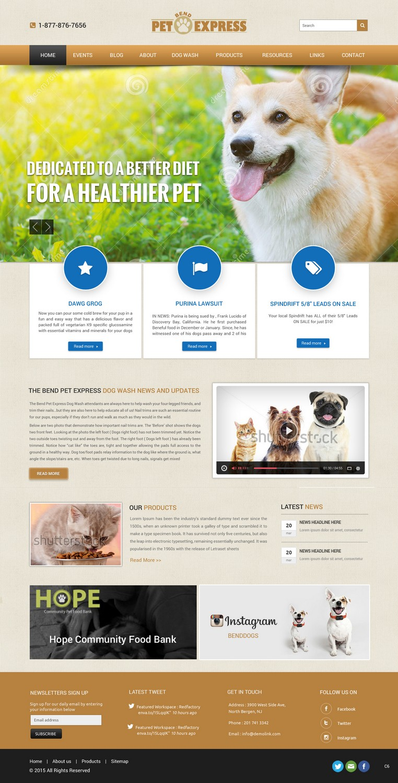 Elegant Playful Food Store Web Design For Alpine Internet