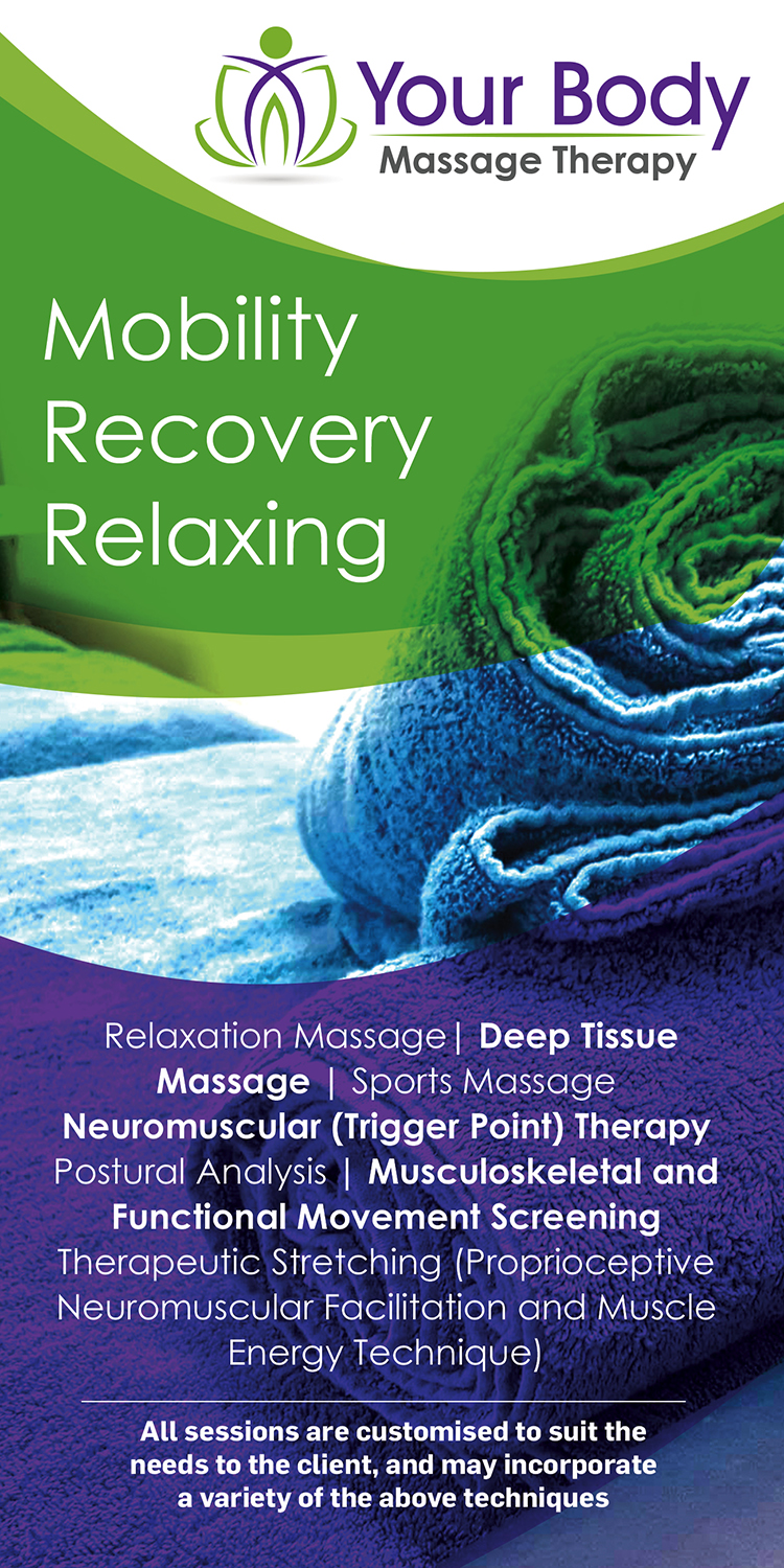 Bold, Modern, Massage Therapy Flyer Design for a Company by