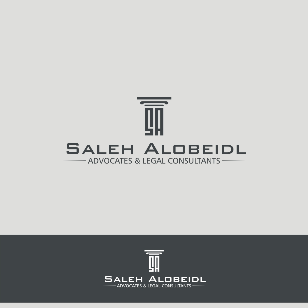 Serious, Modern, Legal Logo Design for Saleh Alobeidli ... Modern Law Firm Logos