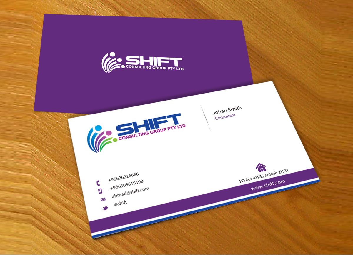 Modern, Professional Business Card Design for Shift Consulting ...