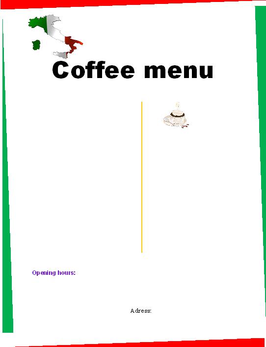Anne Marie S Cafe Menu