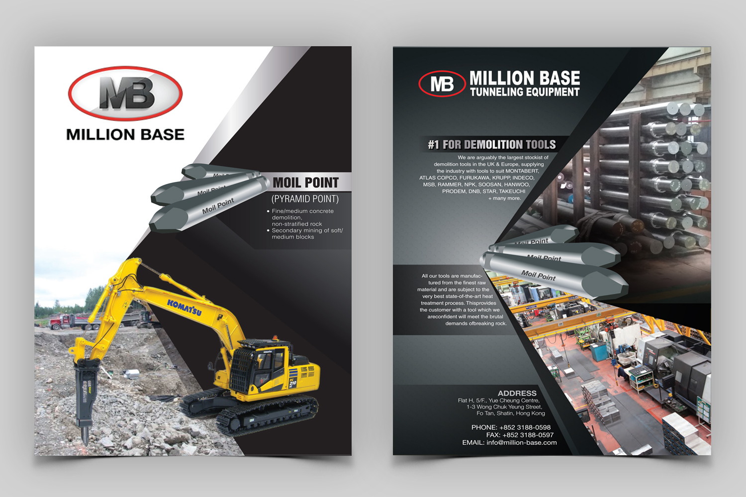 serious professional construction company flyer design for a