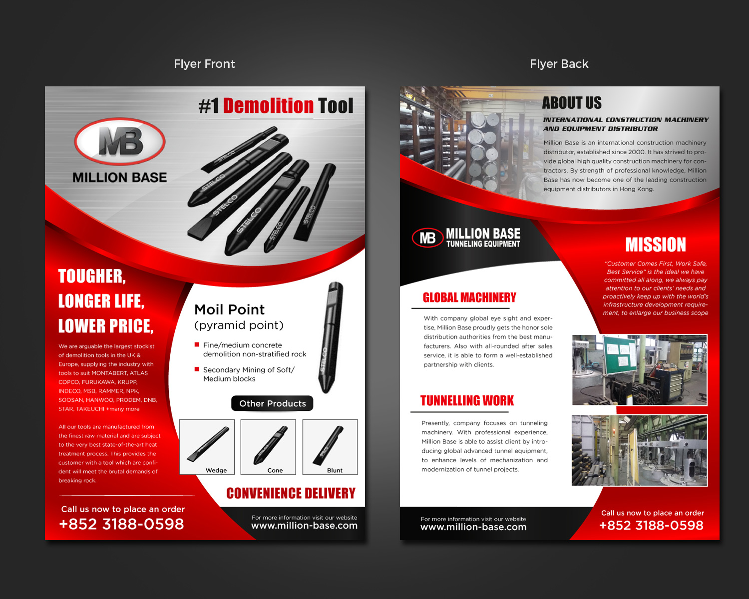serious professional flyer design for joseph wong by flyer design by pivotaldesign biz for construction machinery company needs two pages flyers to