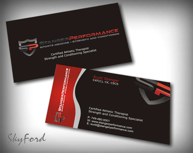 Professional upmarket fitness business card design for a company business card design by skydesign for this project design 413823 reheart Images