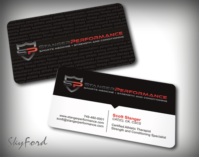 Professional upmarket fitness business card design for a company business card design by skydesign for this project design 413826 reheart Gallery