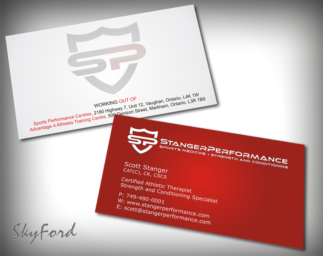 Professional, Upmarket, Fitness Business Card Design for a Company ...