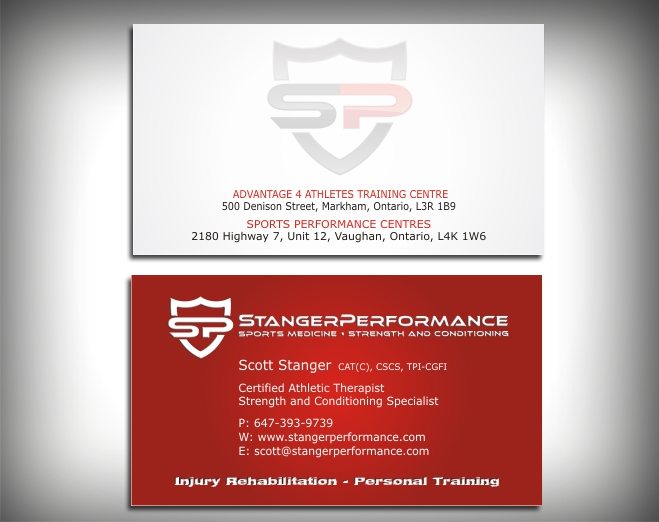 98 professional business card designs fitness business card design business card design by skydesign for this project design 443549 reheart Images