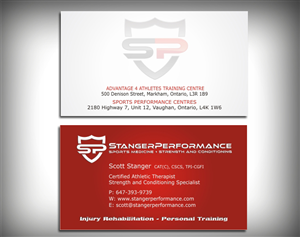 98 professional business card designs fitness business card design business card design by skydesign for this project design 443549 colourmoves Gallery