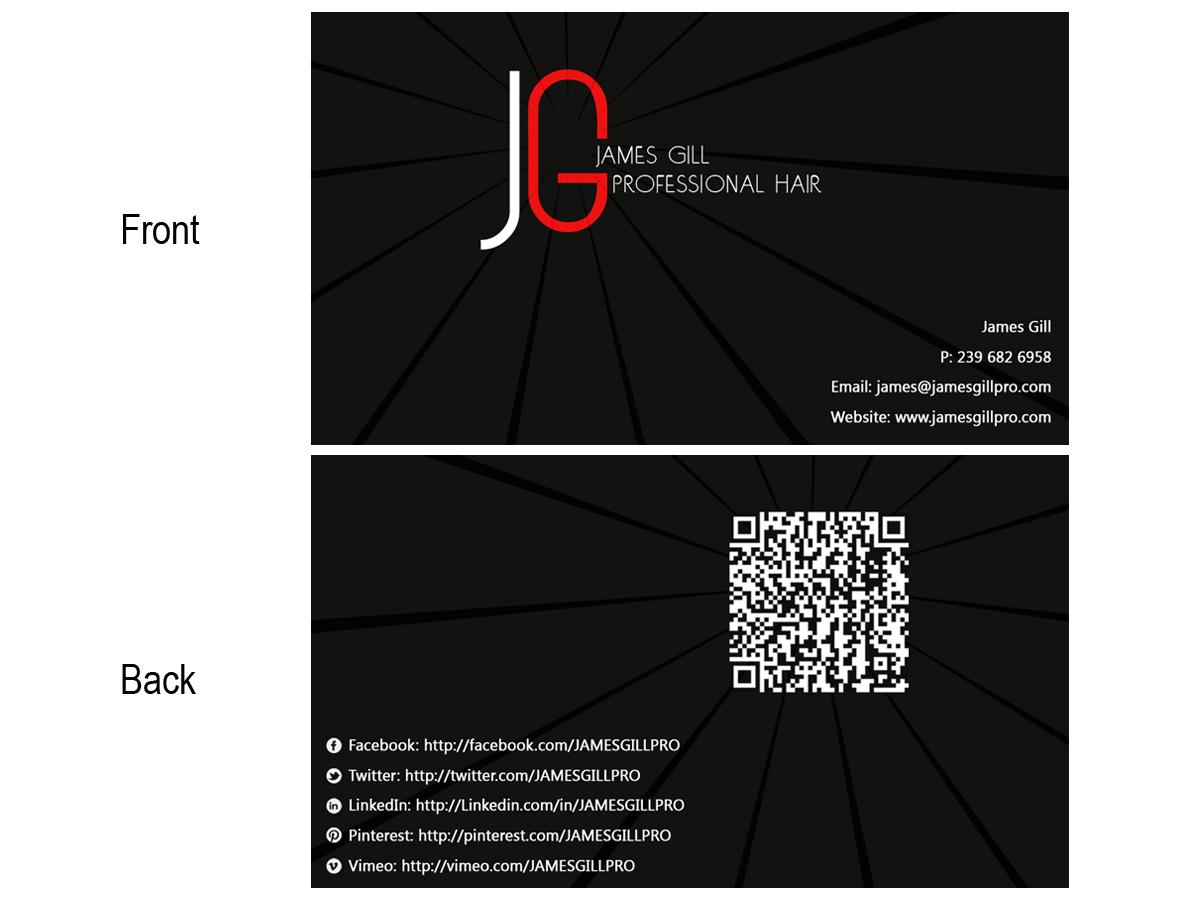 Fett Modern Training Visitenkarten Design Für James Gill