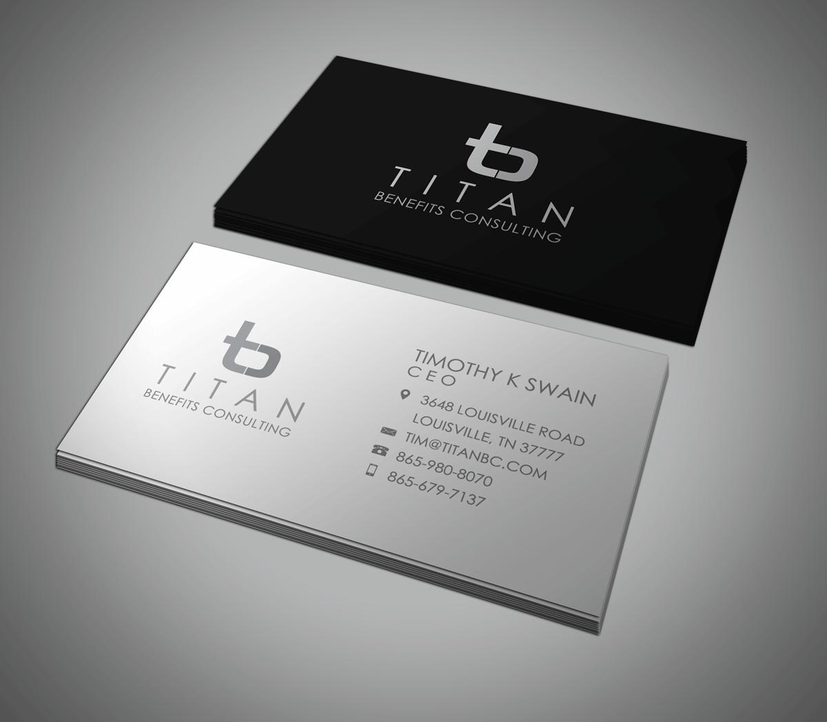 Insurance business card design for titan benefits by riz design business card design by riz for titan benefits design 9314570 colourmoves