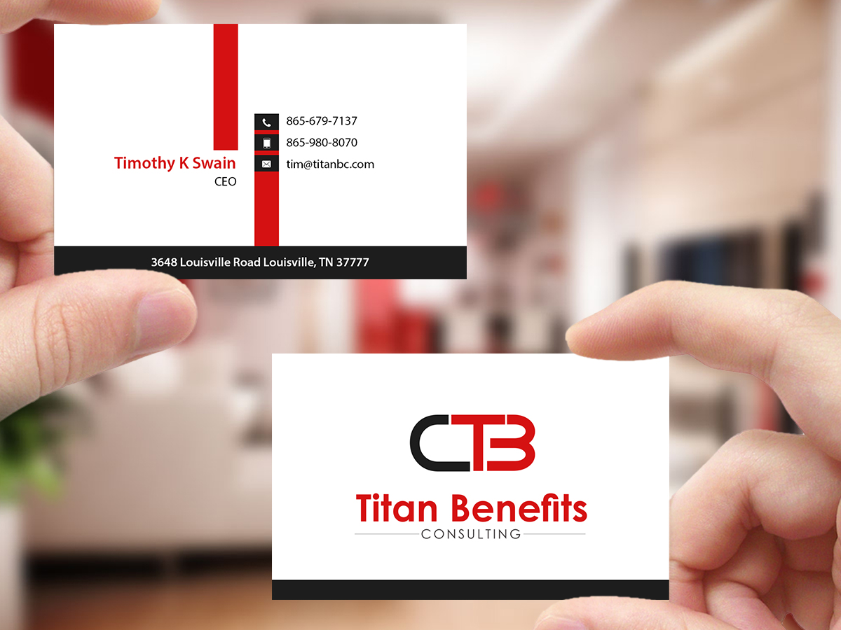 Insurance business card design for titan benefits by creations box business card design by creations box 2015 for titan benefits design 9334474 colourmoves
