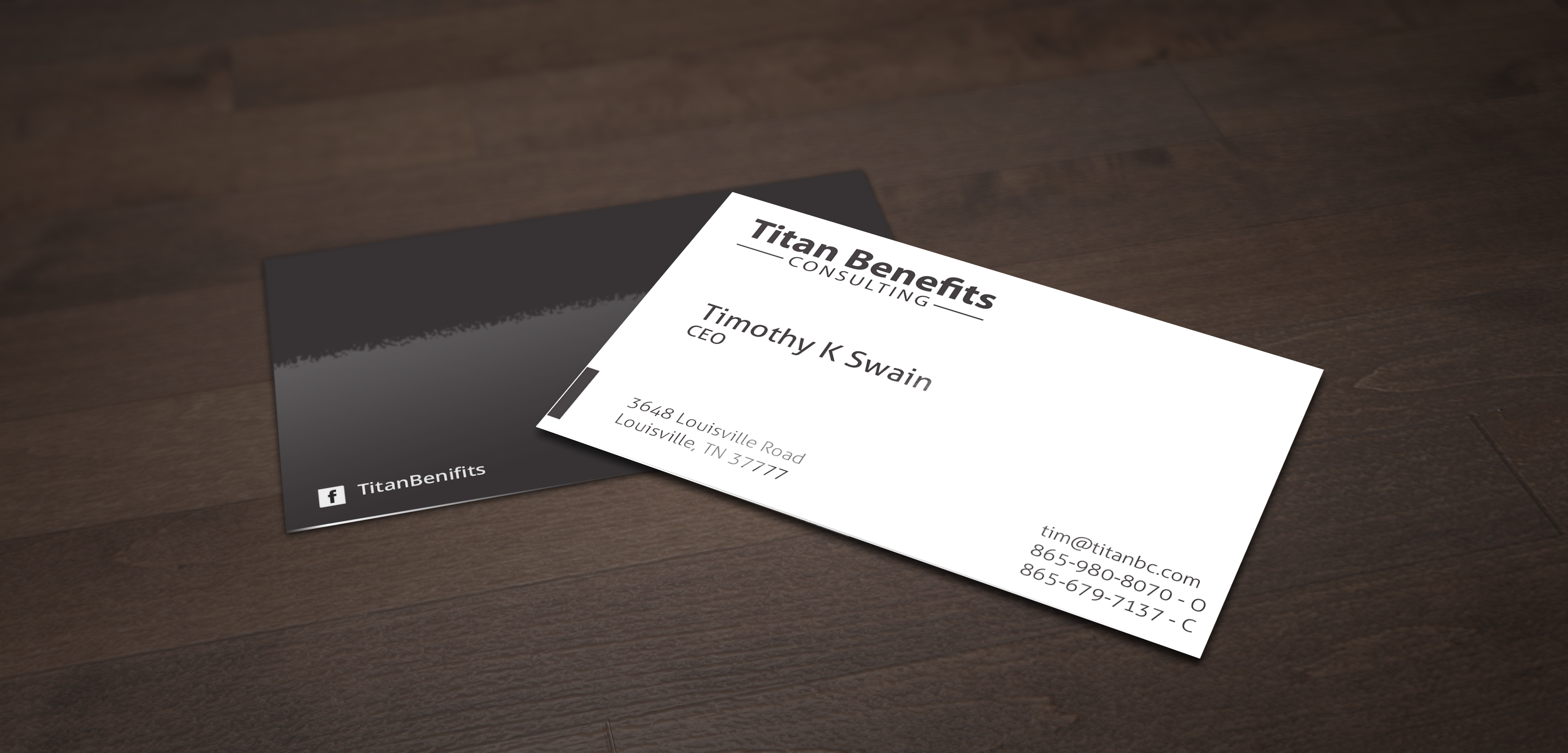 Insurance business card design for titan benefits by creative5 business card design by creative5 for titan benefits design 9331755 colourmoves