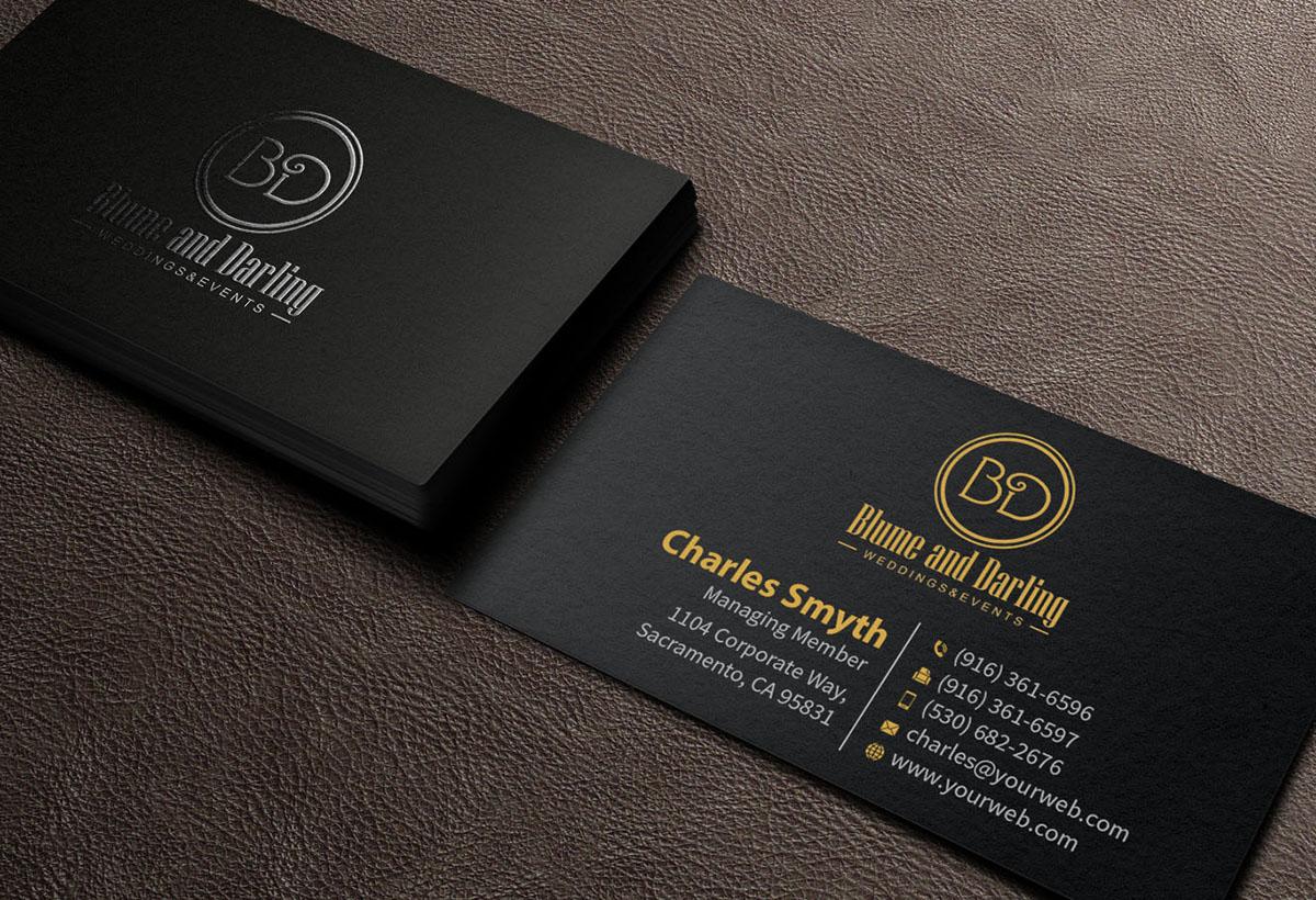 Design De Carte Visite Moderne Professionnelle Event Planning Pour A Company En Aux New Zealand
