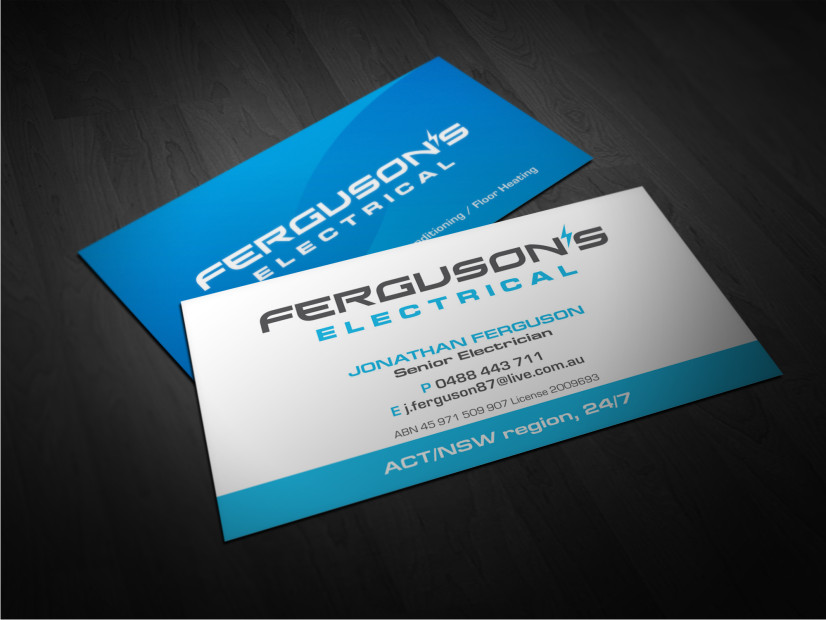 business card design by atvento graphics for this project design 2053956 - Electrician Business Cards