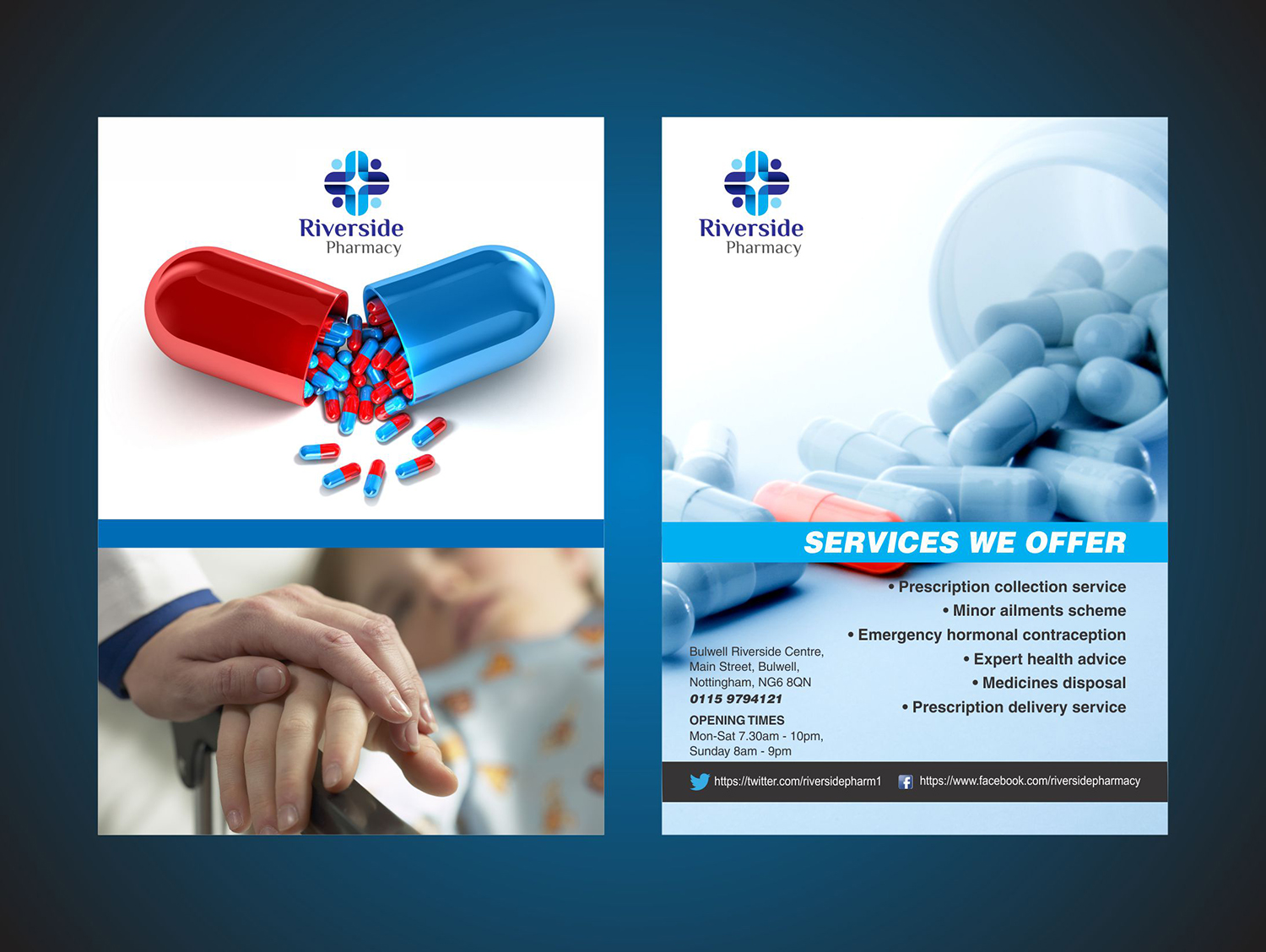 bold modern pharmacy flyer design for a company by ingenious ideas