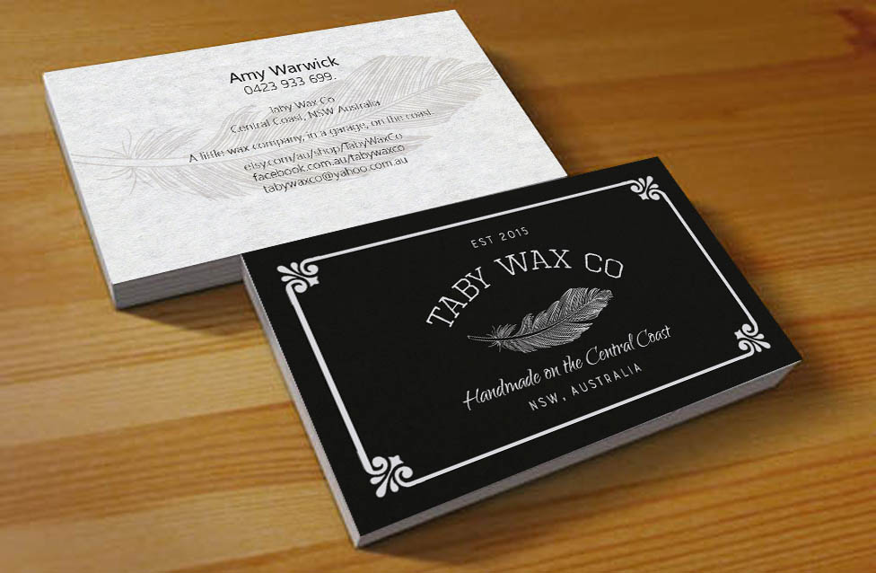 Elegant playful home and garden business card design for taby wax business card design by hardcore design for taby wax co design 9375842 colourmoves Choice Image