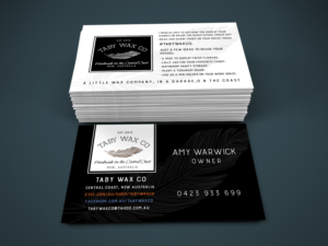 business card design design 9374753 submitted to business card for a candle company