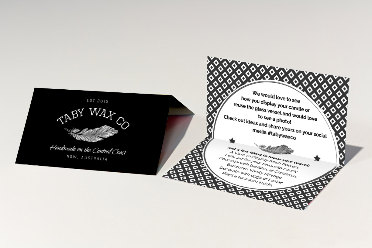 Elegant, Playful, Home And Garden Business Card Design for Taby Wax ...