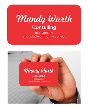 Design De Carte Visite Par Monimonzy Pour Mandy Wurth Consulting