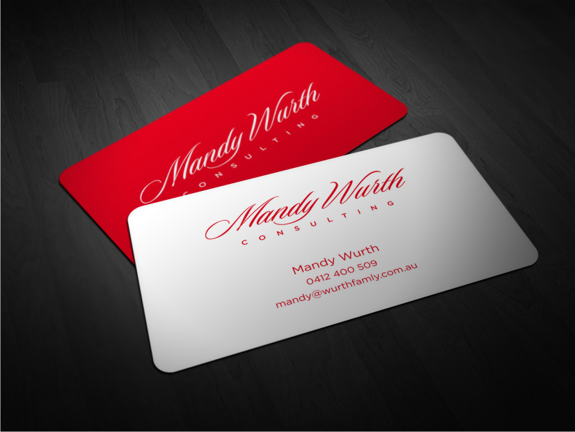 Design De Carte Visite Par Atvento Graphics Pour Mandy Wurth Consulting