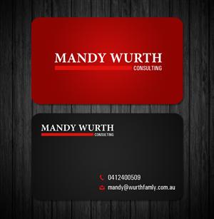Design De Carte Visite Par Owaisias Pour Mandy Wurth Consulting