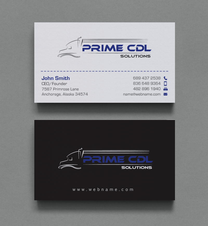 business card design by chandrayaancreative for this project design 9362588 - Trucking Business Cards