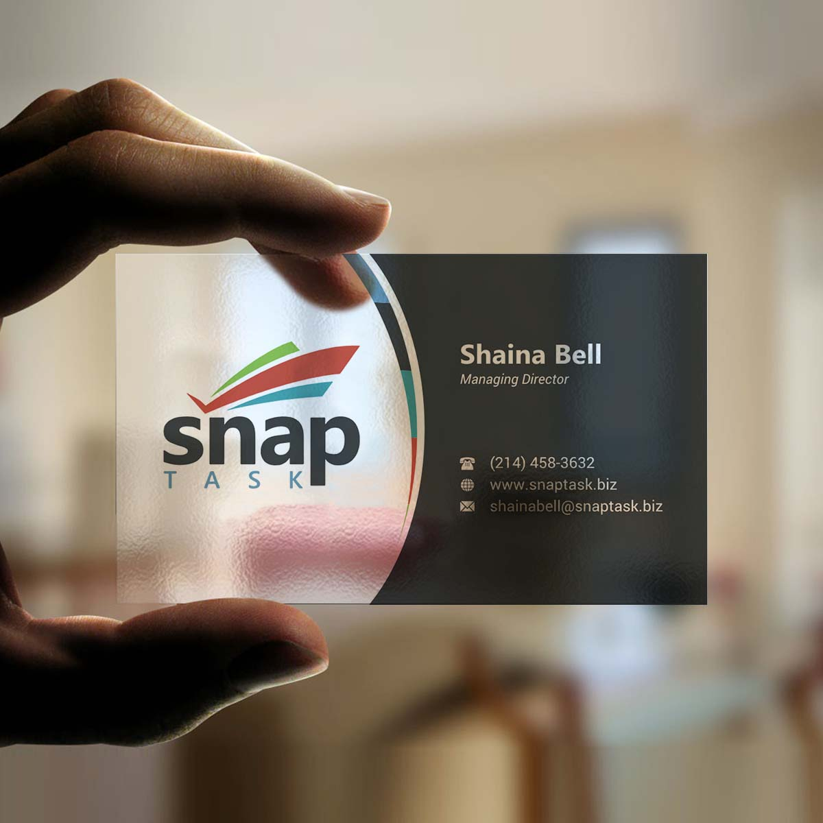 Modern bold business business card design for snaptask by business card design by indianashok for snaptask design 9385317 reheart Choice Image