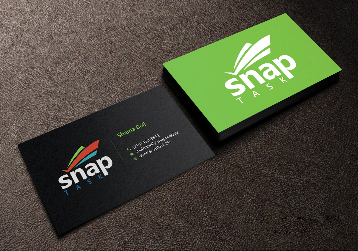 Business Card Design By Creations Box 2015 For SnapTask