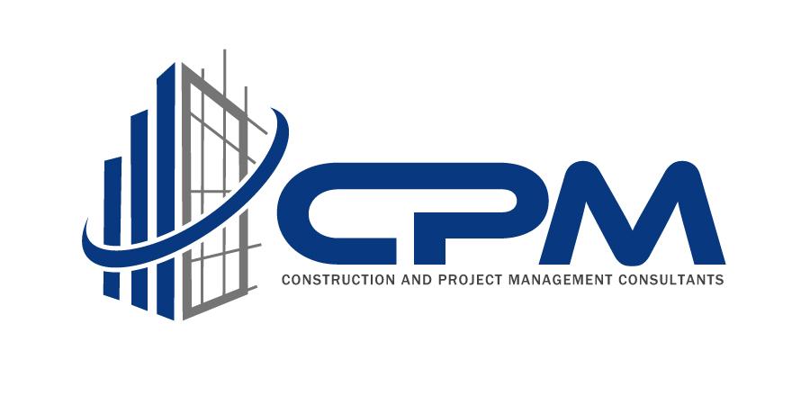 serious professional construction logo design for cpm