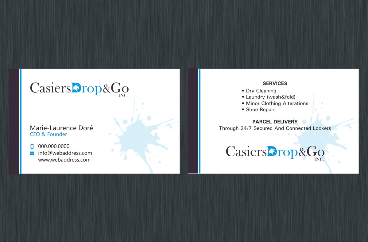 Business Card Design By Poonam Gupta For Drop Go Lockers 9352912