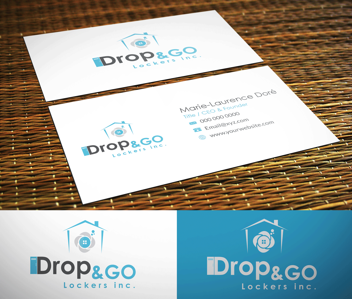 Modern, Professional, Dry Cleaning Business Card Design for Drop&Go ...