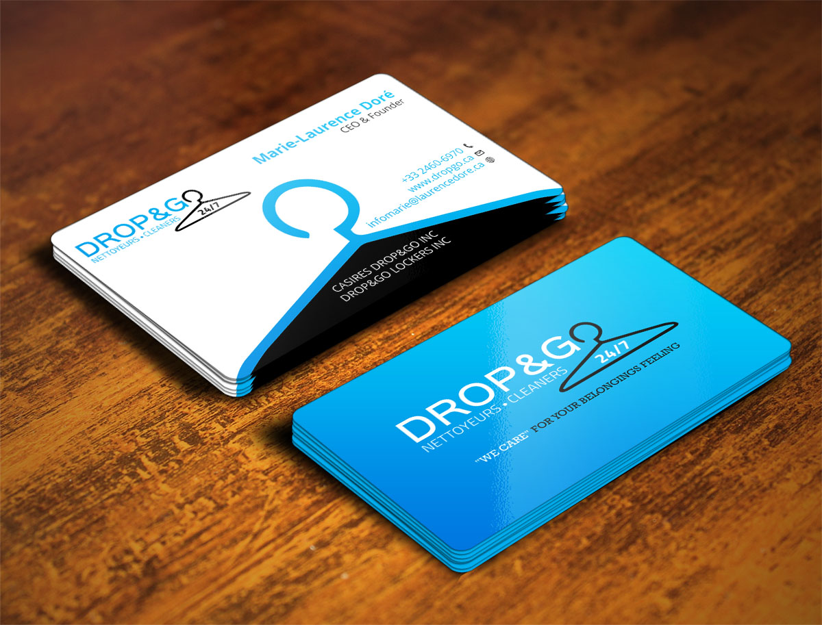 Modern, Professional Business Card Design for Drop&Go Lockers by ...