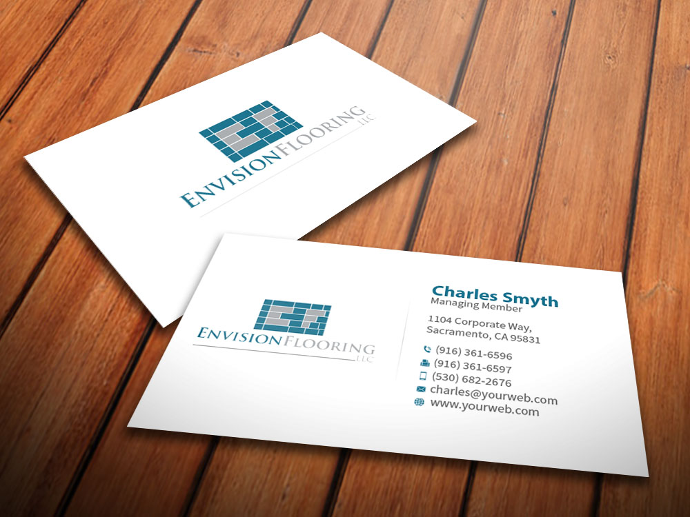 Modern Upmarket Logo Design for Envision Flooring LLC by