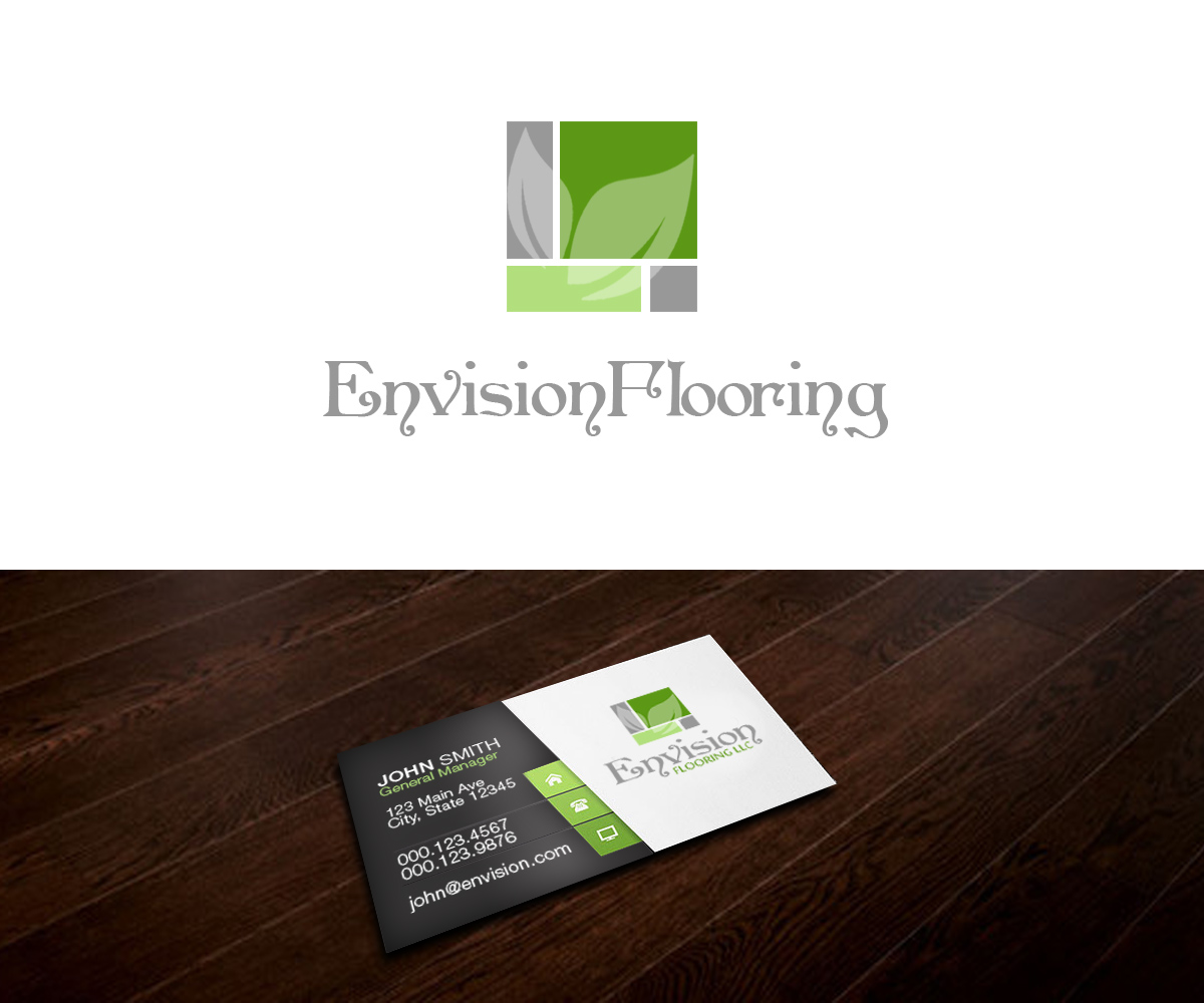 Modern Upmarket Logo Design for Envision Flooring LLC by ZETA