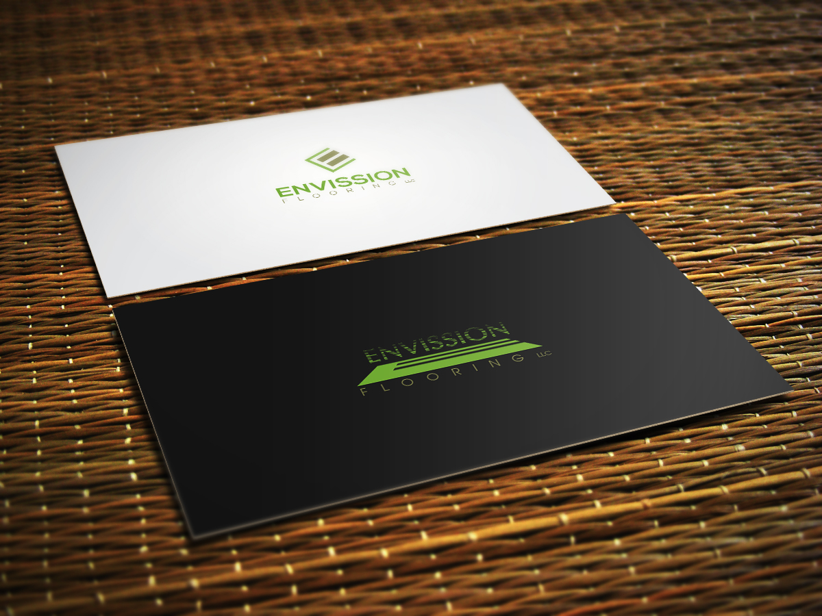 Modern Upmarket Logo Design for Envision Flooring LLC by Aaron
