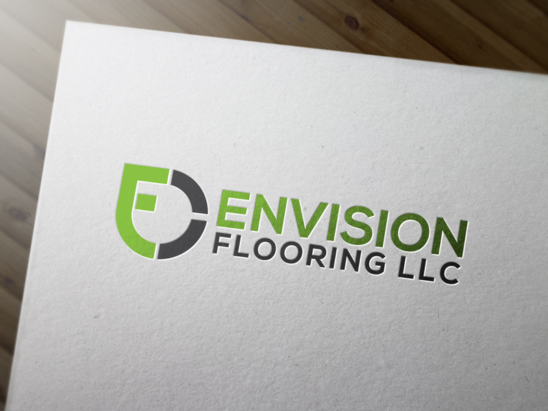 Modern Upmarket Logo Design for Envision Flooring LLC by jimetall