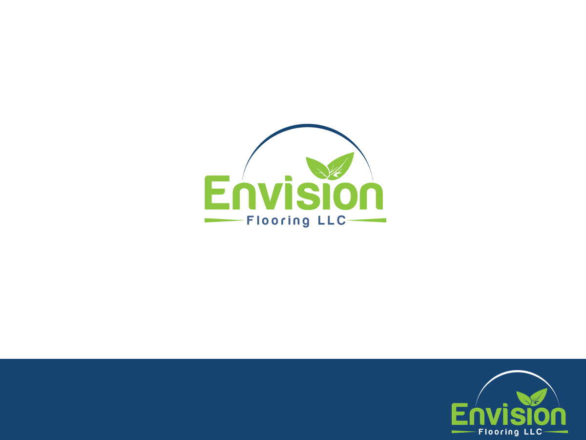 Modern Upmarket Logo Design for Envision Flooring LLC by Atec
