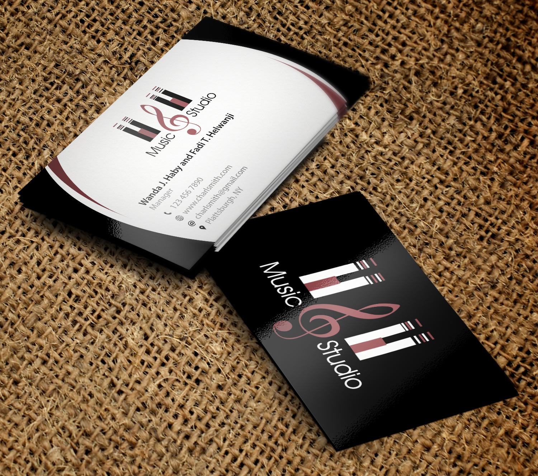 Elegant professional business business card design for hh fine business card design by primarydesigner2k9 for hh fine arts studio design 9374041 colourmoves