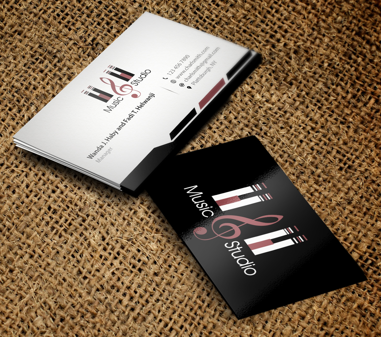 Elegant professional business business card design for hh fine business card design by primarydesigner2k9 for hh fine arts studio design 9374045 colourmoves