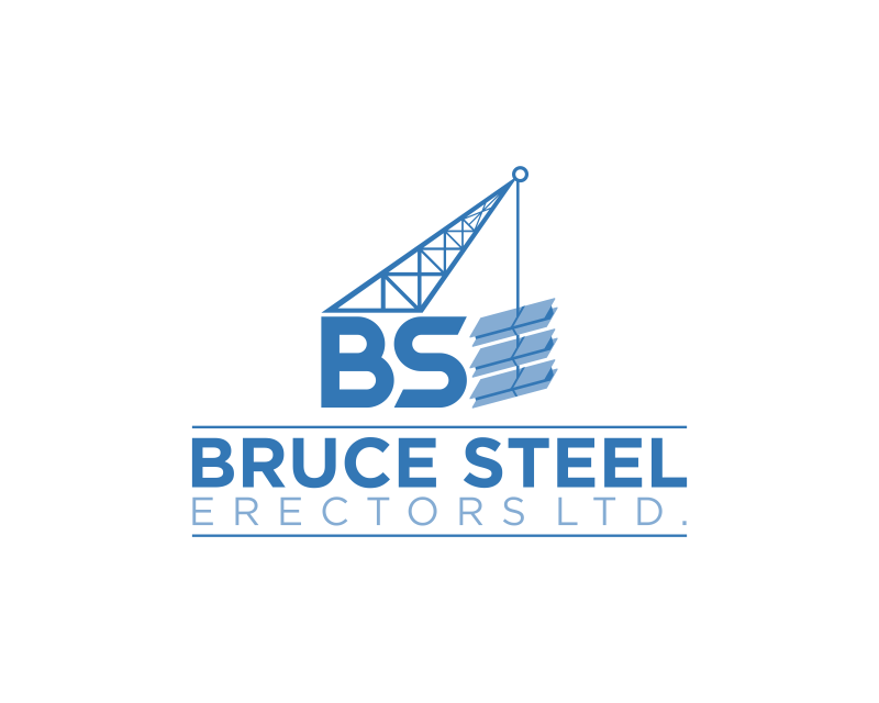 Structural Steel Logos : Serio traditional structural steel diseño de logo for