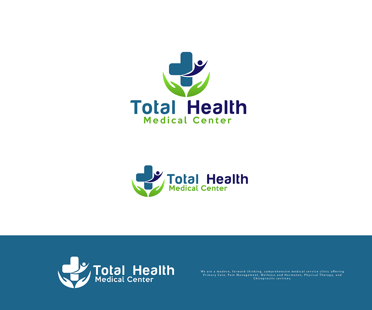 Clinic Logo Design For Total Health Medical Center By Pixelgrapix