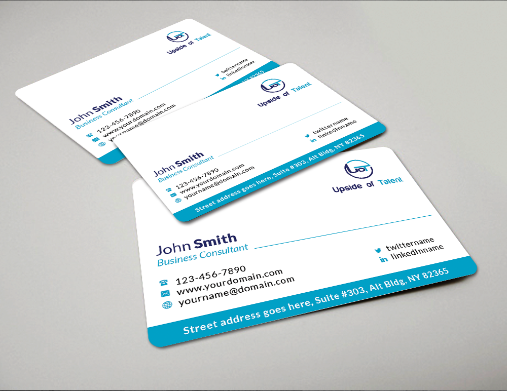 Modern upmarket business consultant business card design for Business design consultant